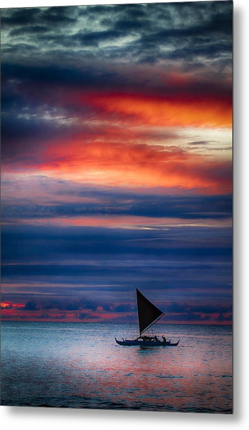 Mike  Neal - Hawaiian Sailing Canoe Print