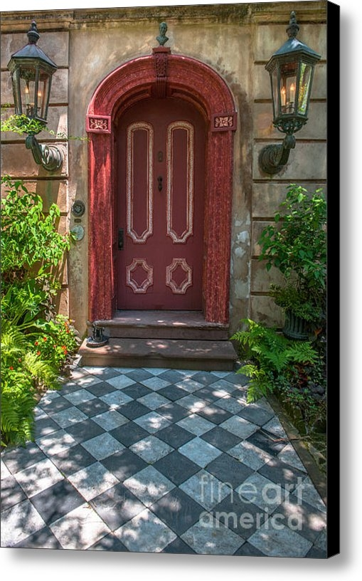 Dale Powell - Grand Red Door Entrance Print