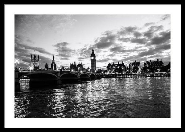 Mountain Dreams - An Evening on the Thames Print