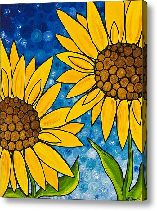 Sharon Cummings - Yellow Sunflowers Print