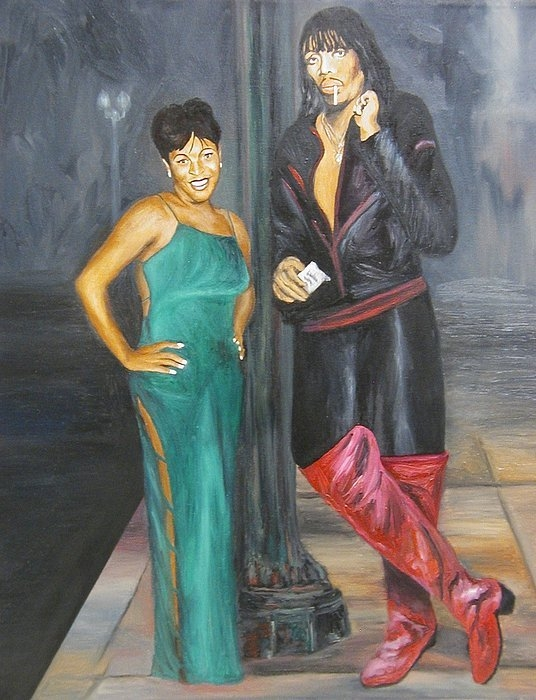 Angelo Thomas - Mz Thang and Rick James Print