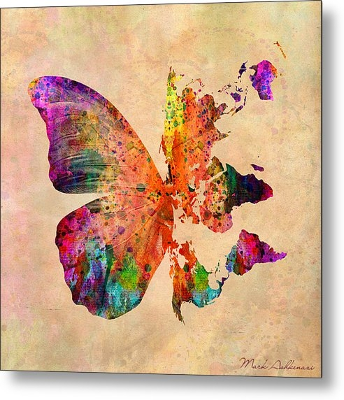 Mark Ashkenazi - Butterfly World Map  Print