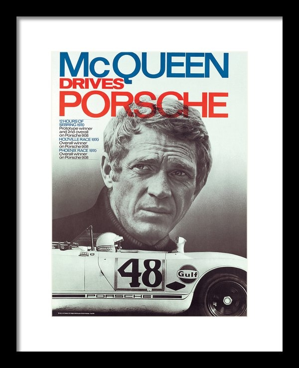 Nomad Art And  Design - Steve McQueen Drives Pors... Print
