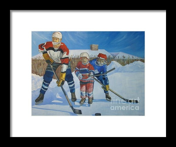 Christina Clare - Backyard Ice Hockey Print
