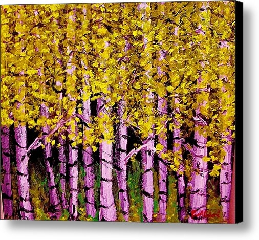 Paul  Crimi - Fall Birch Trees  Print