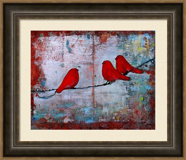 Blenda Studio - Red Birds Let It Be Print