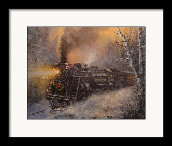 Tom Shropshire - Christmas Train in Wiscon... Print
