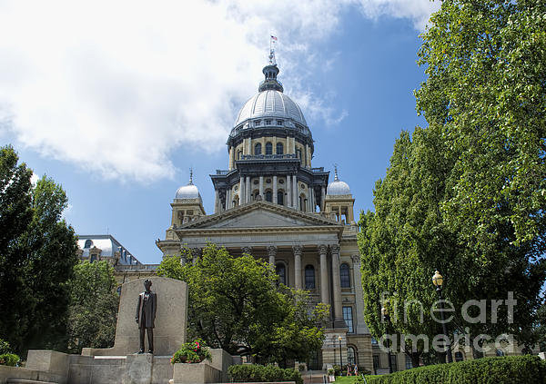 Luther  Fine Art - Architecture - Illinois S... Print