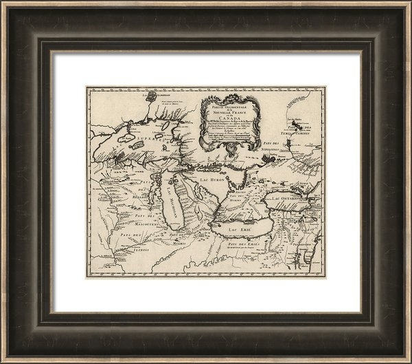 Blue Monocle - Antique Map of the Great ... Print