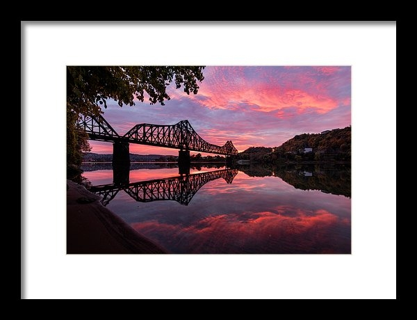 Emmanuel Panagiotakis - Train Bridge at Sunrise  Print