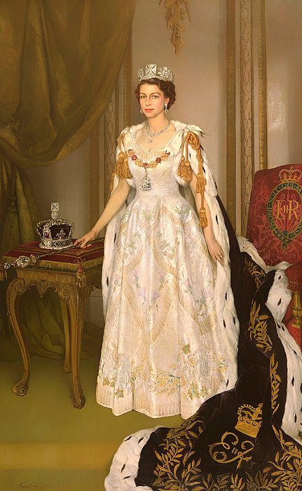 Herbert James Gunn - Coronation Portrait Of Qu... Print