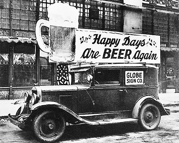 Digital Reproductions - Happy Days are Beer Again Print