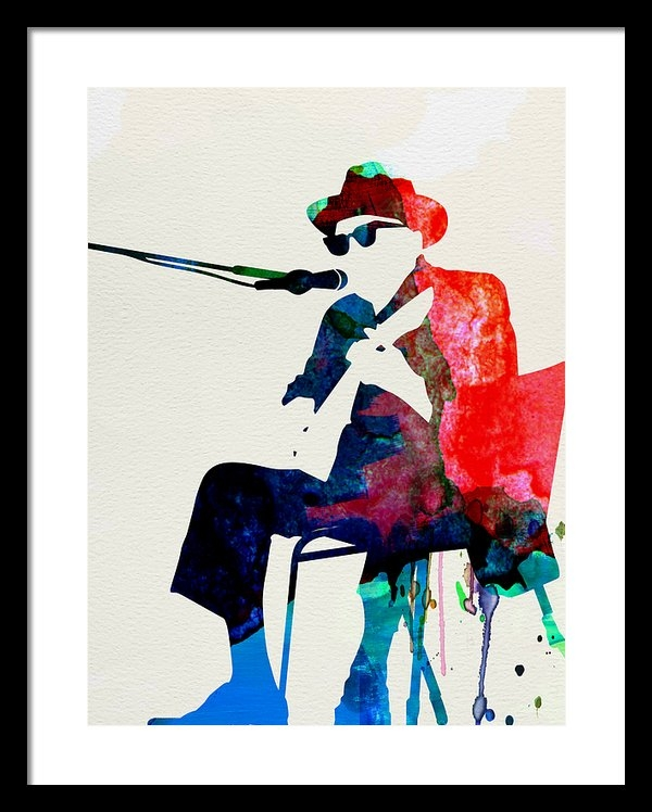 Naxart Studio - Johnny Lee Hooker Waterco... Print