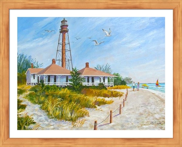 Dianna  Willman - A Day by Sanibel Lighthou... Print
