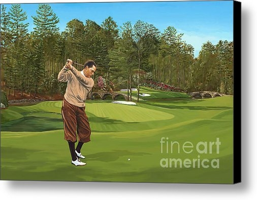 Tim Gilliland - Augusta 11 and 12th hole ... Print
