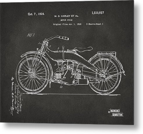 Nikki Marie Smith - 1924 Harley Motorcycle Pa... Print