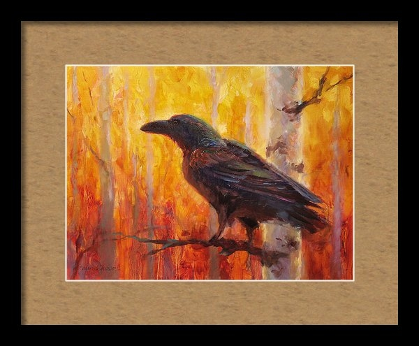Karen Whitworth - Raven Glow Autumn Forest ... Print
