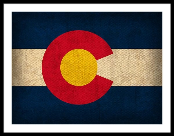 Design Turnpike - Colorado State Flag Art o... Print