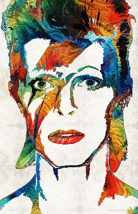 Sharon Cummings - David Bowie Art Tribute b... Print